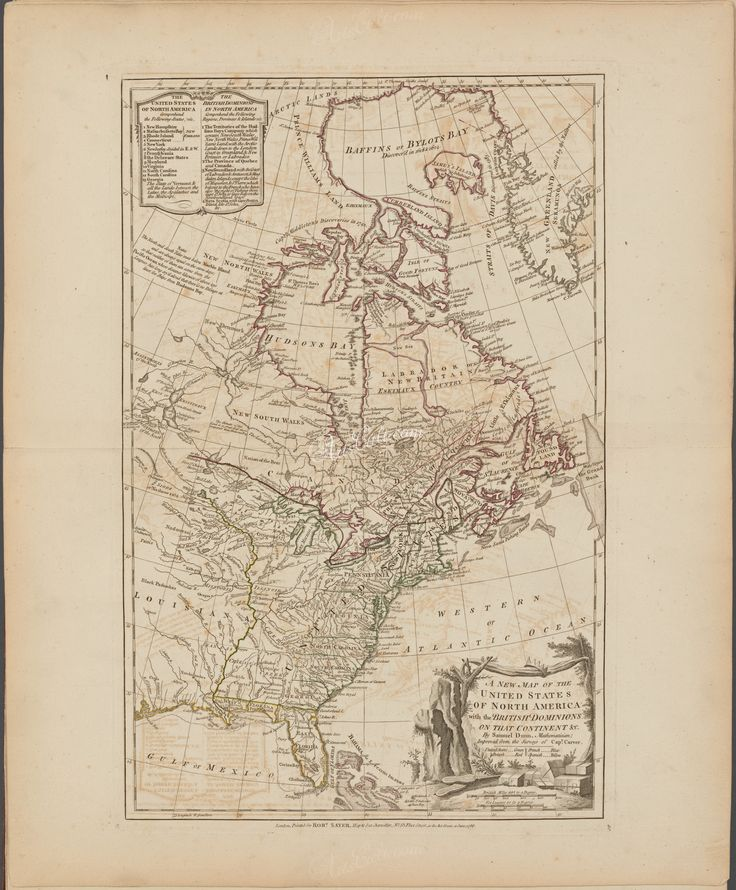North America Map Detailed%0A A new map of the United States of North America with the British dominions  on that