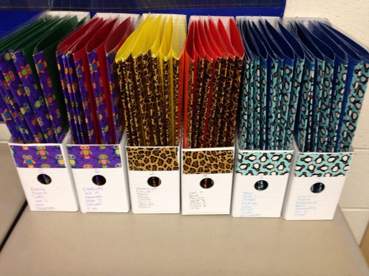 Keep guided reading groups straight by labeling boxes with coordinating duct tape to match students' folders! {no link, but pic is self explanatory} #classroomorganization