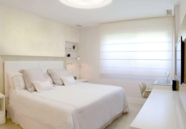 Cortina romana quarto casal  Quartos, closets, cortinas, cabeceiras cama, pa