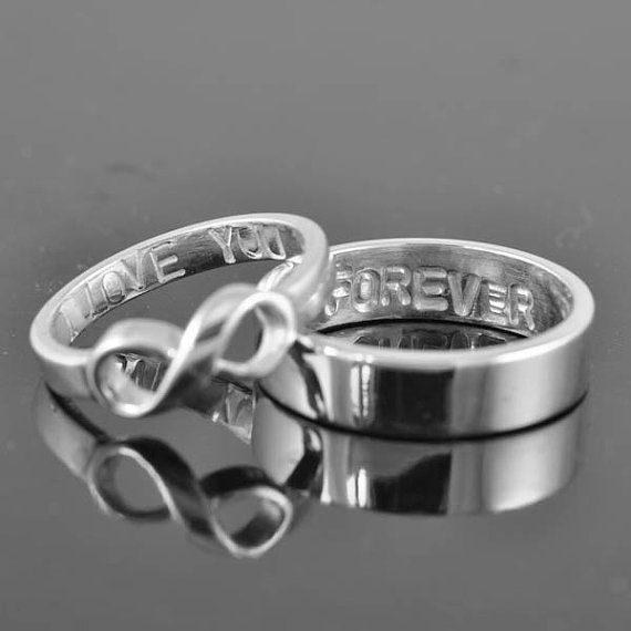 infinity ring wedding band wedding ring engagement by JubileJewel, $119.00