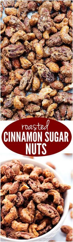 These slow roasted almonds, cashews, and pecans are coated in a sugar glaze spiced with cinnamon making an addicting snack for any occasion! They also make amazing neighbor gifts!