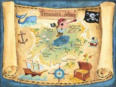 Print Out Pirate Treasure MapsPirate