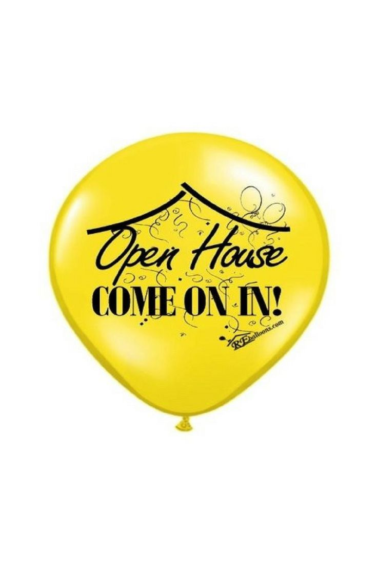 Real Estate Signs With Balloons