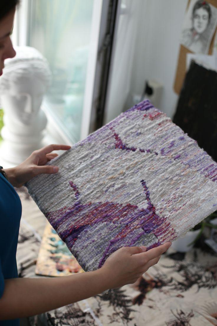 """tapestry """"Fly!"""" Natalia Rozhkova #weaving #tapestry #гобелен #ткачество"""