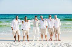 Beach wedding Destin, FL groomsmen attire and groom attire from IslandImporters Amy Little Photography