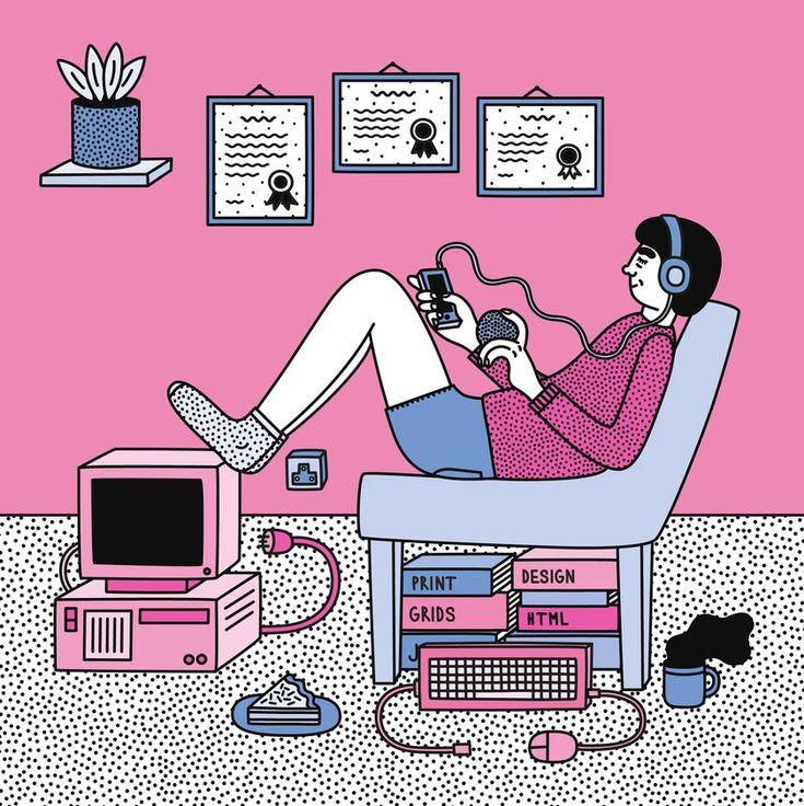 Martina Paukova mostra o dia-a-dia de maneira ilustrada