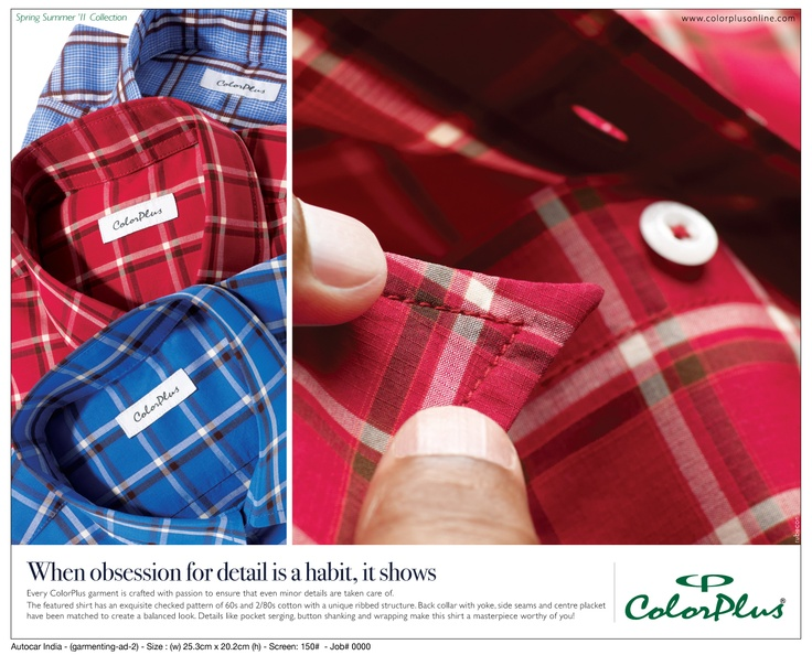 Crafted with passion by #ColorPlus #2011 #SSCollection