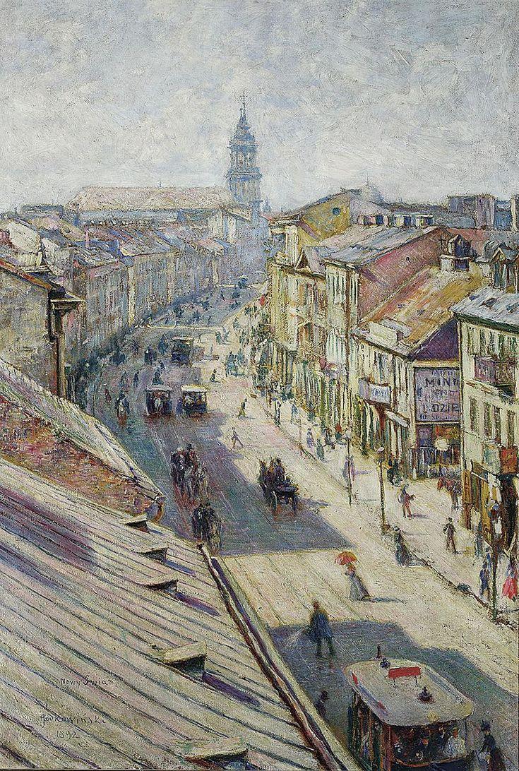 Władysław Podkowiński, Ulica Nowy Świat (The street of Nowy Świat on a Summer Day)