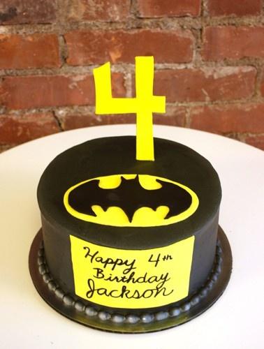 Batman cake for superhero party!