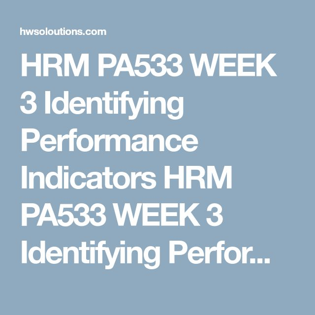 HRM PA533 WEEK 3 Identifying Performance Indicators HRM PA533 WEEK 3 Identifying Performance Indicators HRM PA533 WEEK 3 Identifying Performance Indicators Usethe job description from the individual assignment in Week Two to complete this paper.  Writea 1,050- to 1,750-word paper in which you cover the following:  Outline how you would design an employee performance appraisal system for your organization. (It must be a comprehensive system, not simply an annual written evaluation). Using…