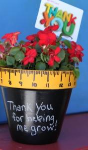 Teacher Gifts: Flower Pot @ http://gigglesgalorenmore.blogspot.com