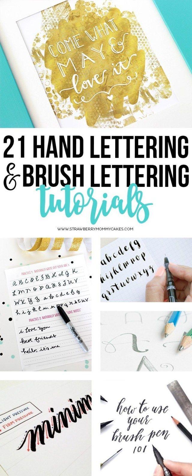 21 Tutorials für Hand- und Pinselbeschriftungen – Printable Crush