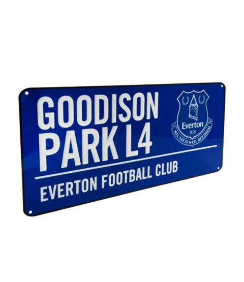 This Everton FC Goodison Park Street Sign makes a great gift for fans of all ages! Free UK delivery available.