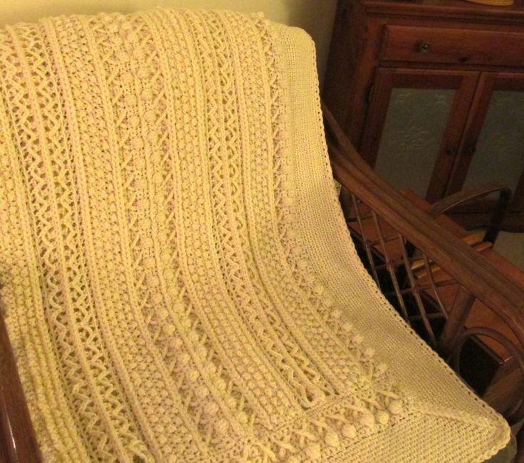 Crochet Pattern Aran Afghan :