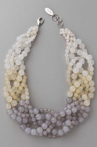 Adia Kibur Beaded Twist Necklace, $88, available at Shopbop.