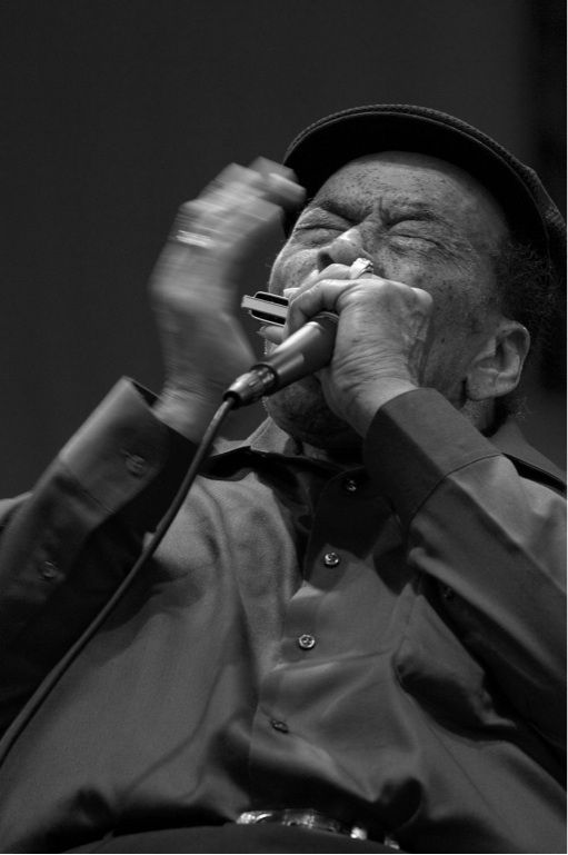 James Cotton (born July 1, 1935, Tunica, Mississippi a blues harmonica player, singer and songwriter, who has performed and recorded with many of the great blues artists of his time as well as with his own band, the James Cotton Blues Band.