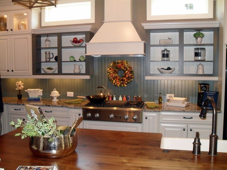 painted wainscoting backsplash kitchen pinterest