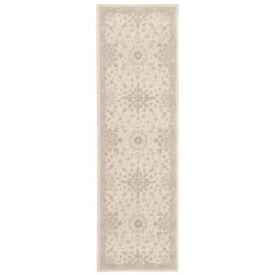 "Kathy Ireland Home Gallery Kathy Ireland Royal Serenity ""St. James"" Bone Area Rug Rug Size: Runner 2'3"" x 8'"