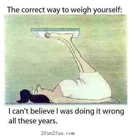 Uplifting way to weigh yourself