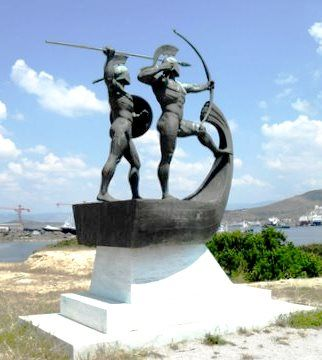Monument for the Battle of Salamis, Kynosoura peninsula, Salamis Island, Greece, Wikipedia