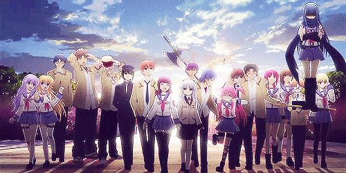 As if I wasn't emotionally destroyed enough, they had to go and do this at the end... -- Angel Beats