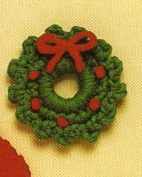 Free Crochet Wreath Magnet Pattern