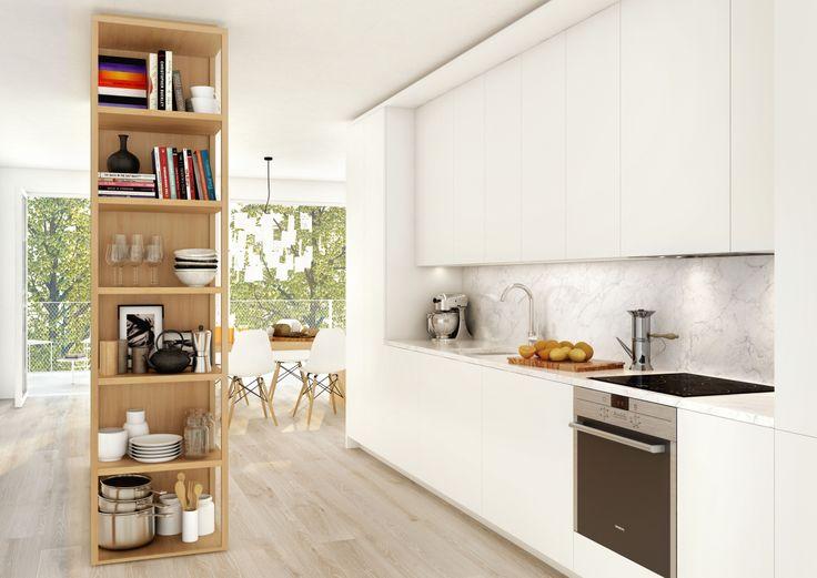 HG7 #oscarproperties kitchen, interiors, design, inspiration, floor, hammarby sjöstad, stockholm, sweden #orangeriet