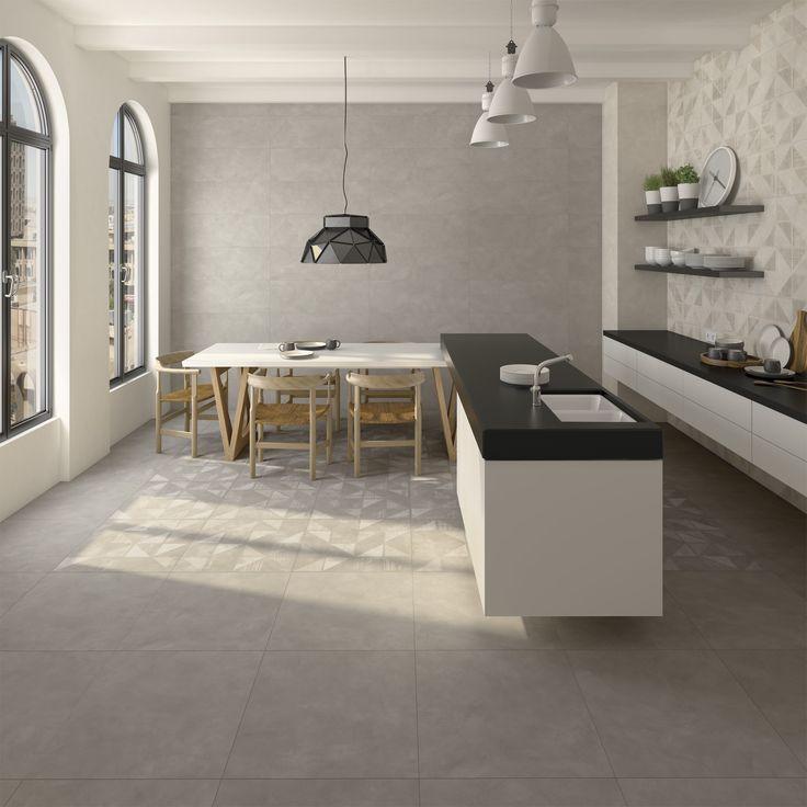 Kitchen | cocina | Fulson Sombra - Walton Sombra - Gilmore Sombra - Doit Gris  | contemporary home | home inspiration | Arcana Tiles | Arcana Ceramica