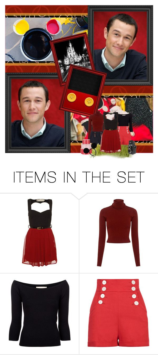 """Hot Dog!"" by sugarpixielh ❤ liked on Polyvore featuring art, disney, dreamcast, mickeymouse, disneycharacter and fancast"