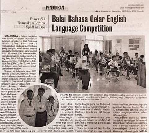 Perpustakaan Bunga Bangsa ƸӜƷ: Juara 1 dan Juara 3, Lomba Spelling Bee Tingkat SD...