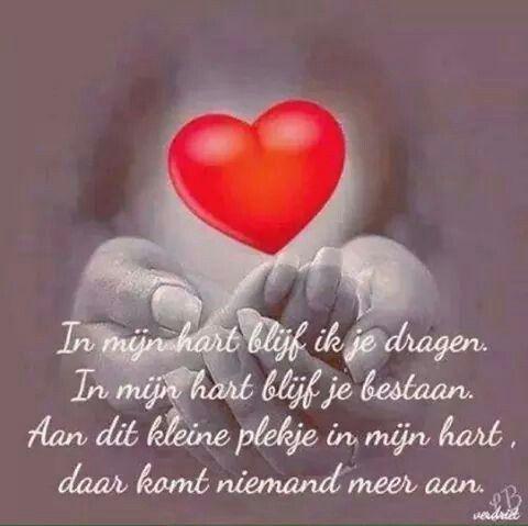In mijn hart blijf ik je dragen ...