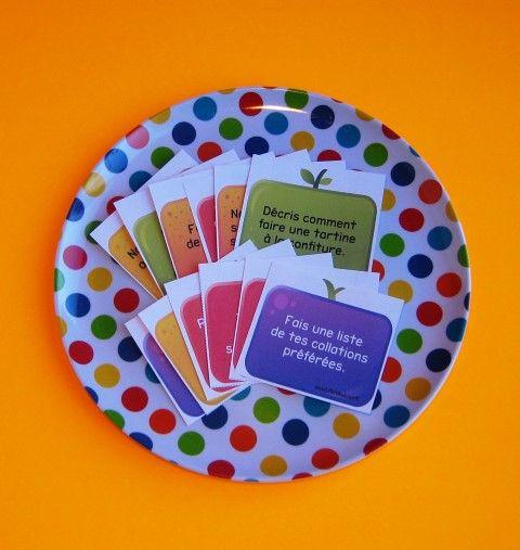 Sujets d'écriture sur la nutrition (6-7 ans): Idéale pour les périodes d'écriture autonome ou la composante travaux d'écriture des 5 au quotidien,  cette activité saura certainement susciter la motivation de vos jeunes auteurs. Les élèves rédigent un court texte à partir d'un sujet d'écriture de leur choix, sur le thème de la nutrition.