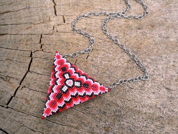 Kaleidoscope Necklace  Sculptural Beadwork by RareSpecimens