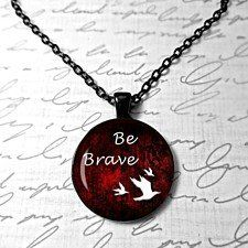 Divergent inspired Tris Quote Be Brave I am selfish I am brave divergent movie I am Divergent jewelry geekery insurgent 3 crows tattoo tris