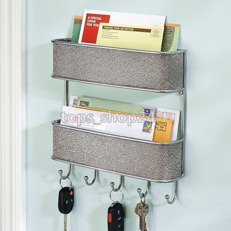 Mail Wall Mount Letter Bill Key Rack Holder Organizer Decor Home Office Storage
