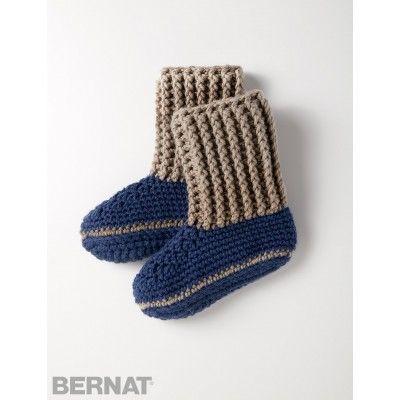 Slipper Socks: FREE crochet pattern ༺✿ƬⱤღ http://www.pinterest.com/teretegui/✿༻