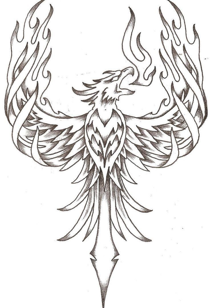 Wonderful Picture Of Phoenix Coloring Page Phoenix Tattoo Design