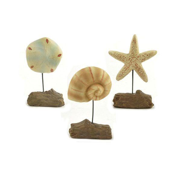 Blossom Bucket 3 Piece Starfish, Shell and Sand Dollar Figurine & Reviews | Wayfair