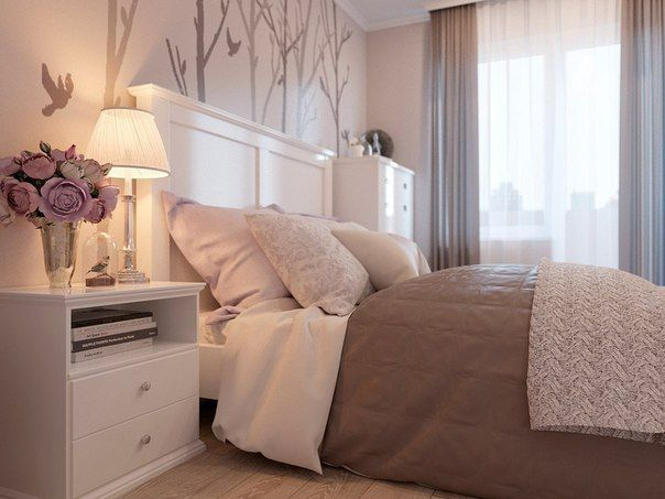 Спальня в нежных тонах. фото #3