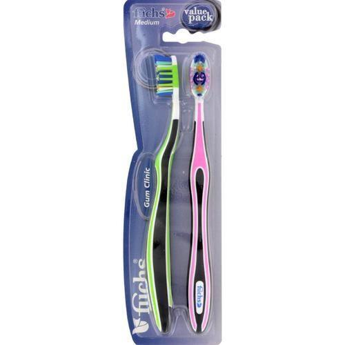 Fuchs Gum Clinic Toothbrush - Medium - Case Of 10 - 2 Pack