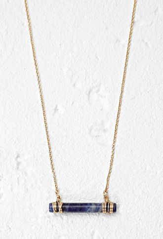 Wire-Wrapped Faux Stone Necklace | Forever 21 - 1000155673