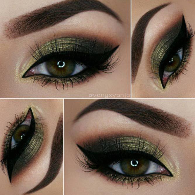 Most Attractive Makeup Ideas for Dark Green Eyes ★ See more: http://glaminati.com/makeup-ideas-dark-green-eyes/