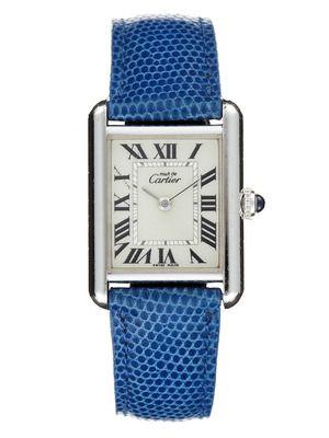 Cartier Cartier Must de Cartier Blue Leather Watch, 22mm