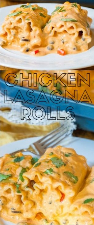 Chicken Lasagna Rolls  We áre disturbed over these Cheesy South Doormát Pást…