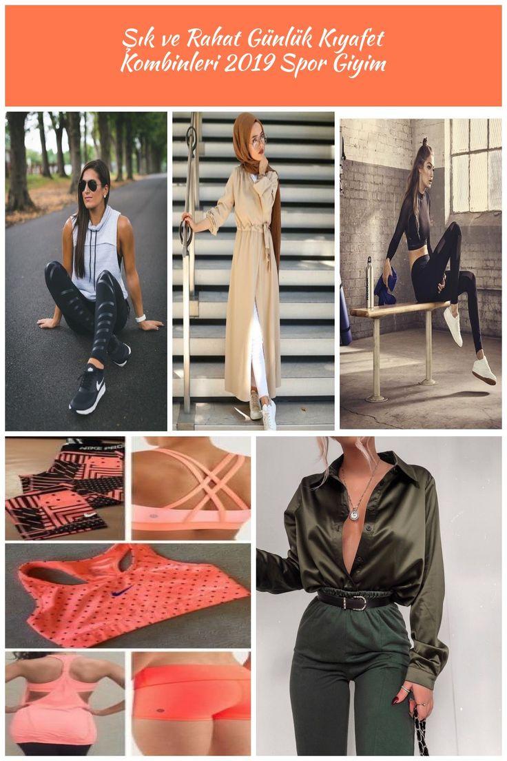 Şık ve Rahat Günlük Kıyafet Kombinleri Spor Giyim #moda #fashion #streetsty…