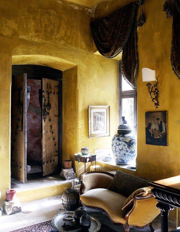 Keltainen talo rannalla: Rustiikkeja koteja #InteriorDesign