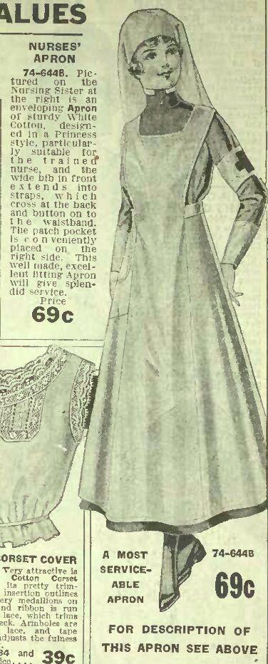 Nurse's Apron. 1917 Spring/Summer Eaton's Catalog, p. 130.