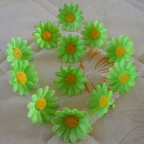 Click Down 100pcs Artificial Gerbera Daisy Flowers Heads Great Flowers Accessories for DIY Wedding Party *** Read more  at the image link.