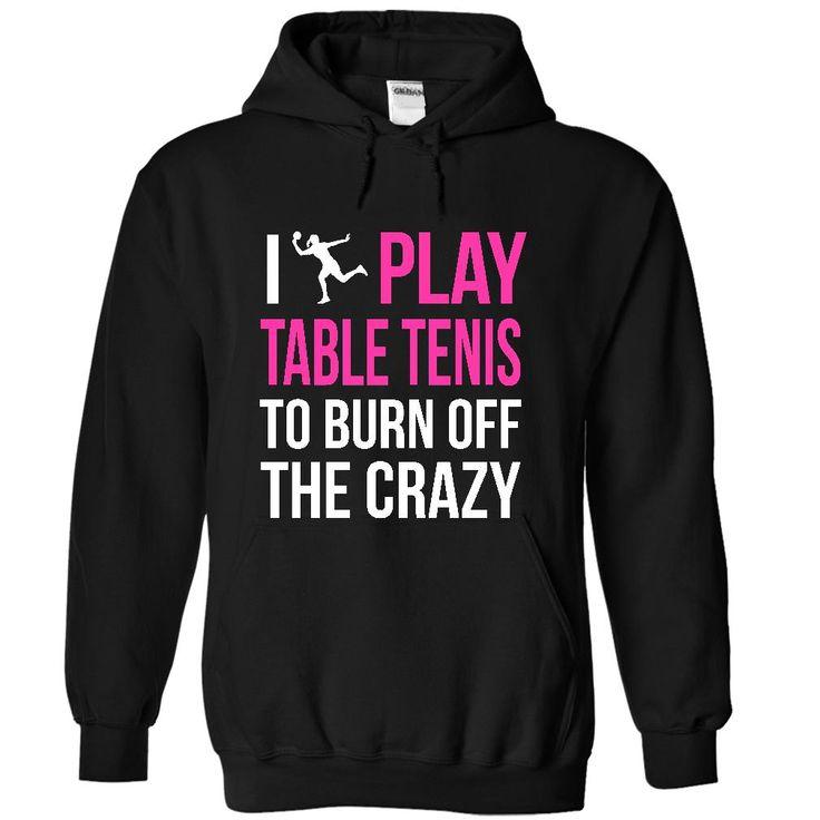 Table Tennis Crazy Female Cool Table Tennis T Shirt (*_*)