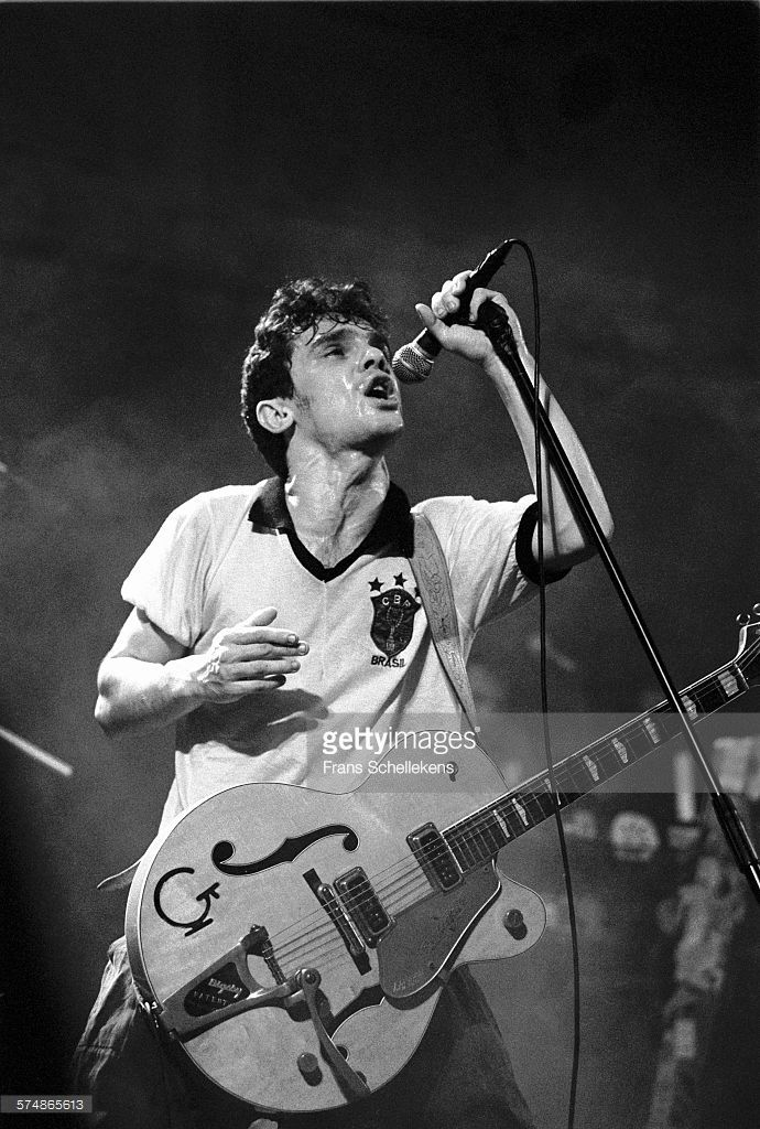 Manu Chao performs with Mano Negra on January 23rd 1992 at the Paradiso in Amsterdam, the Netherlands.